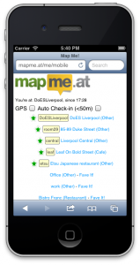 MapMe.At Mobile iPhone Screenshot